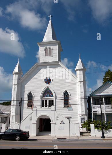 cornish memorial ame african methodist episcopal zion church key west florida usa - Stock Image