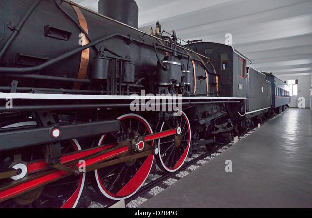 Stalin's train, a gift to Kim Il Sung, Wonsan City, East Sea of Korea, North Korea - Stock Image