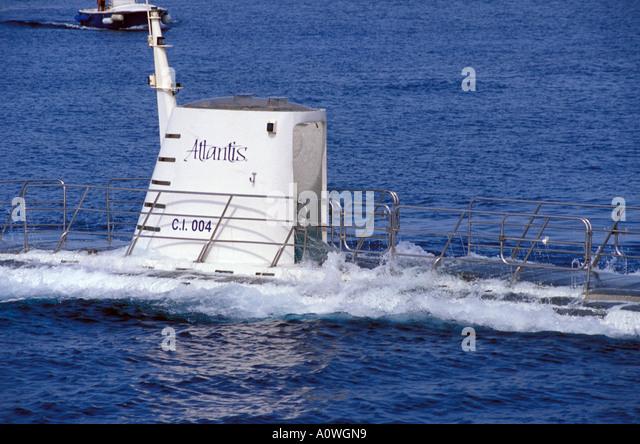 Grand Cayman Nautilus Submarine - Stock Image