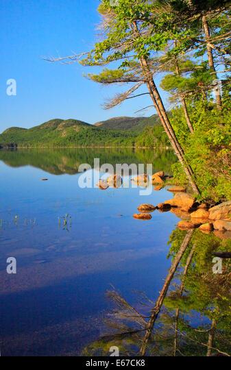 Maine lake summer stock photos maine lake summer stock for Acadia national park fishing