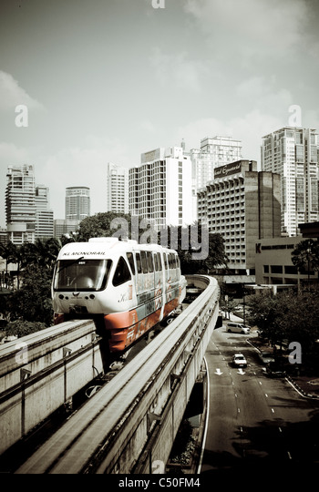 Monorail, Kuala Lumpur, Malaysia, Southeast Asia, Asia - Stock Image