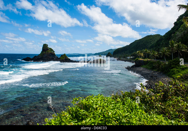 East Coast of Tutuila Island, American Samoa, South Pacific, Pacific - Stock-Bilder