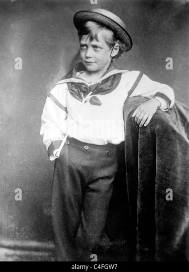 King George as young boy, 1870 - Stock-Bilder