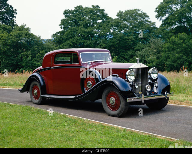 1938 Rolls Royce Phantom III V12 2 door fixed head coupe Country of origin United Kingdom - Stock Image