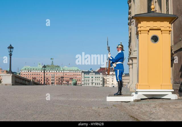Stockholm Castle Guard - Stock Image