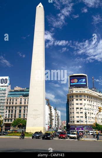 Obelisk of Buenos Aires, Argentina. - Stock Image