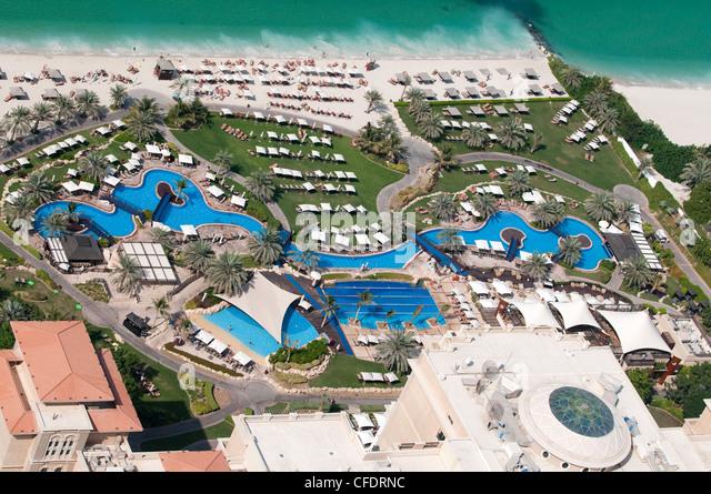 Jumeirah beach hotel pool stock photos jumeirah beach for Luxury hotels in dubai marina