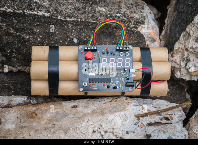 TNT time bomb - Stock Image
