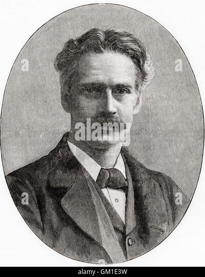 Gerald William Balfour, 2nd Earl of Balfour, 1853 –1945, aka Gerald Balfour or Rt Hon G. W. Balfour until 1930. - Stock Image