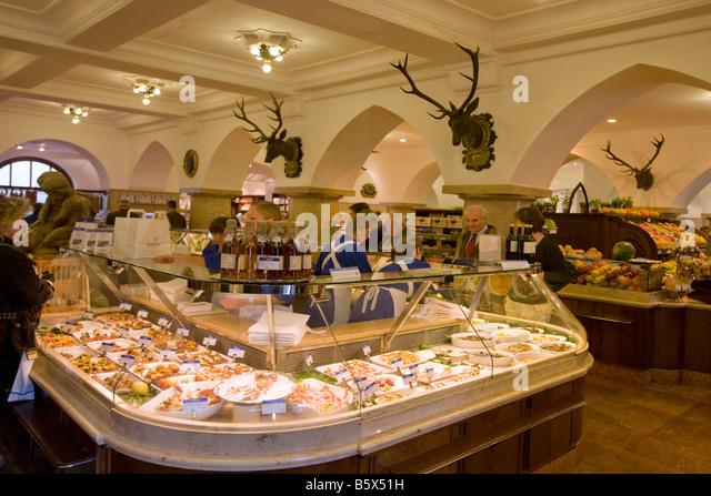 Dahlmeier Delicatessen shop  Munich Germany - Stock Image