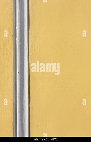 Plaster wall with white strips - Stock-Bilder