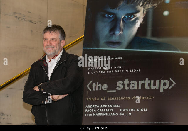 Italy. 03rd Apr, 2017. Photocall of 'the startup', a movie by Alessandro D' Alatri in Italy. Credit: - Stock Image