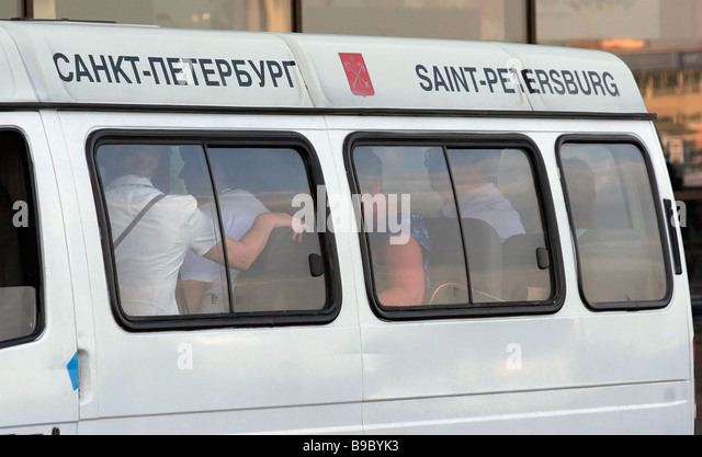 Relatives of passengers of the crashed TU 154 airliner arrive in the Pulkovo airport - Stock Image