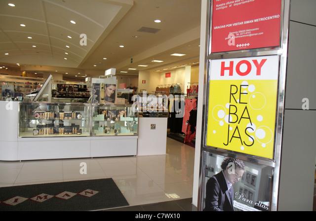 Nicaragua Managua Metrocentro shopping center centre mall business Almacenes Siman department store chain entrance - Stock Image