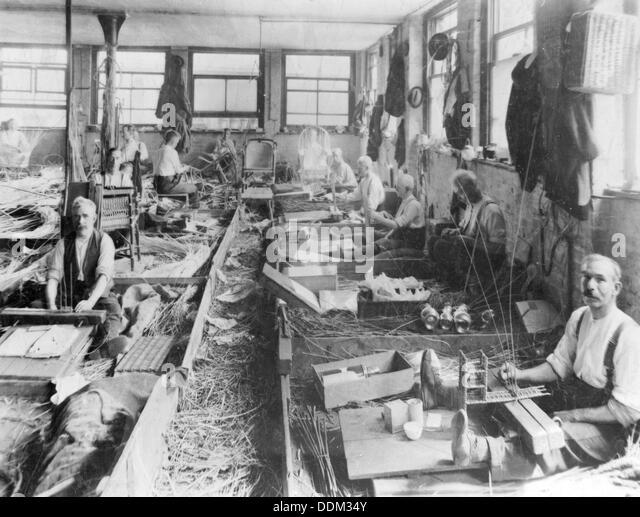 Basket Weaving London : Weaving basket men stock photos
