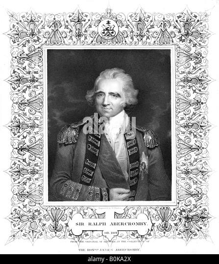 Sir Ralph Abercromby, British general. Artist: William Finden - Stock Image