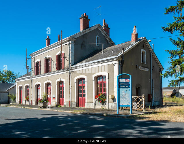 Buzancais railway station - France - Stock Image