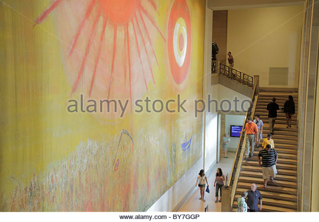 Philadelphia Pennsylvania Philadelphia Museum of Art institution exhibition modern art painting Wheatfield on a - Stock Image