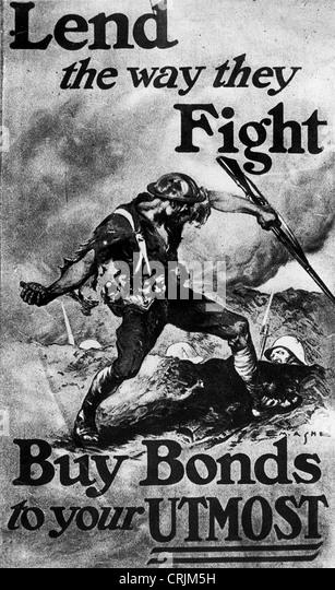 War bonds poster - Stock Image