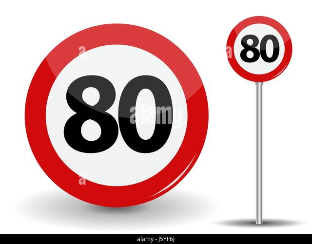 speed limit 80 stock photos speed limit 80 stock images alamy. Black Bedroom Furniture Sets. Home Design Ideas