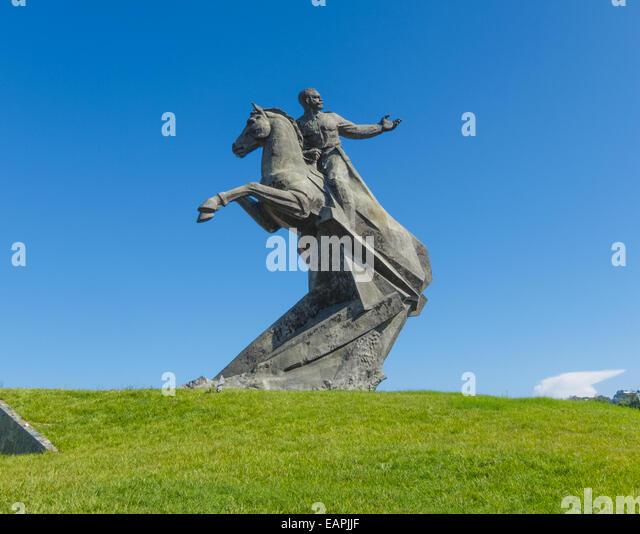 Monument of Lt. General José Antonio de la Caridad Maceo y Grajales on Plaza de la Revolucion in Santiago de - Stock Image