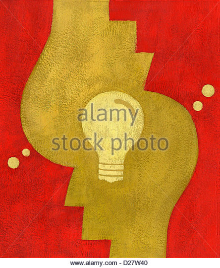 Light bulb connecting heads - Stock Image