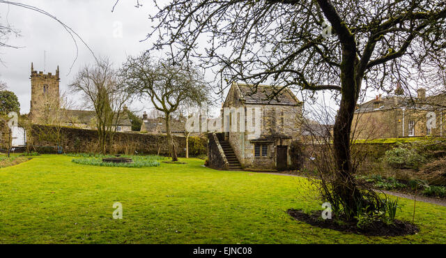 Banqueting house at Eyam Hall. Eyam was site of Bubonic plague in 1665 - Stock Image
