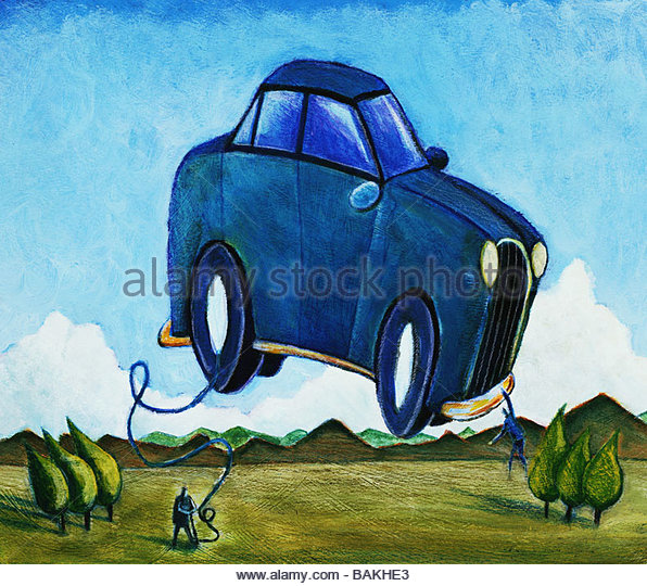 Flying Car - Stock-Bilder