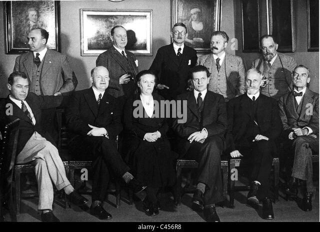 Members of the Prussian Academy of Fine Arts in 1934 - Stock-Bilder