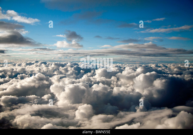 over the clouds - Stock Image