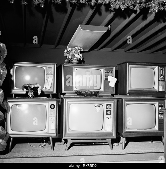 Old fashioned television sets - Stock Image