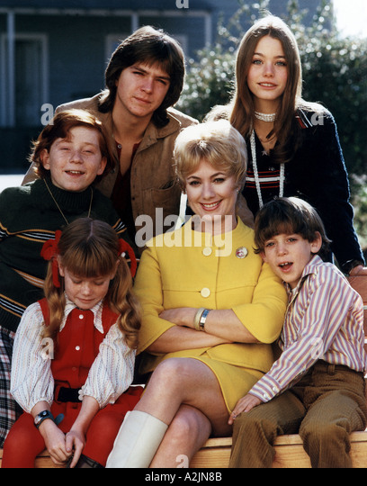 THE PARTRIDGE FAMILY US TV series with Shirley Jones centre and David Cassidy top left - Stock-Bilder