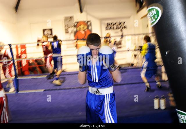Boxing Club South Yorkshire UK - Stock Image