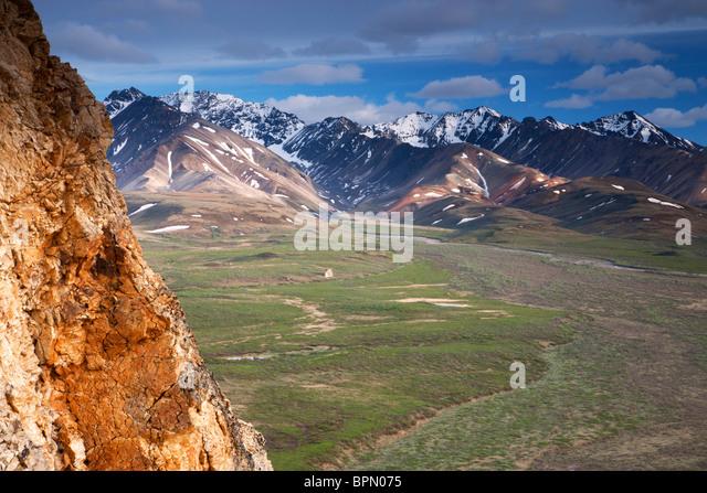 Polychrome Pass, Denali National Park, Alaska. - Stock Image