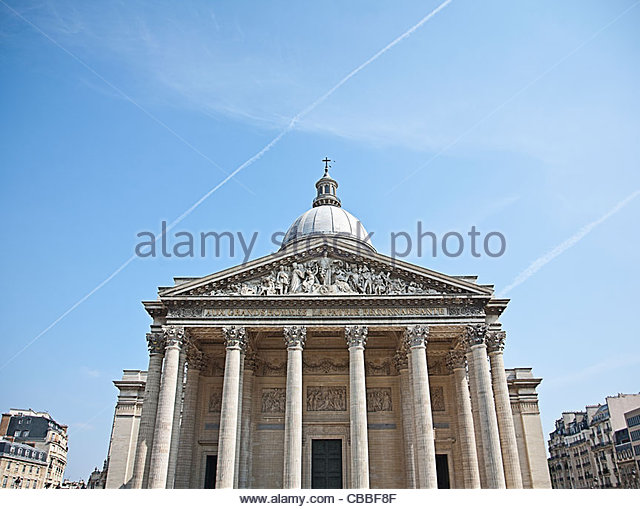 The Pantheon against blue sky - Stock Image