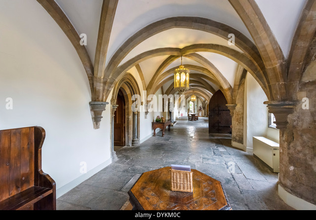 Entrance Hall in the Bishop's Palace, Wells, Somerset, England, UK - Stock Image
