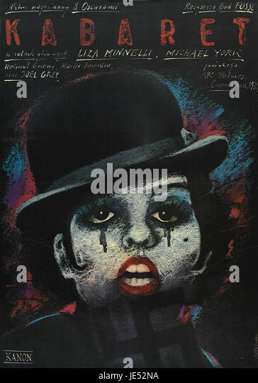 Original Polish movie poster for American film with Liza Minnelli, 1972. - Stock Image