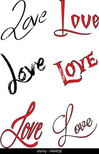Love letters letters saying the word love, isolated on white background. - Stock Image
