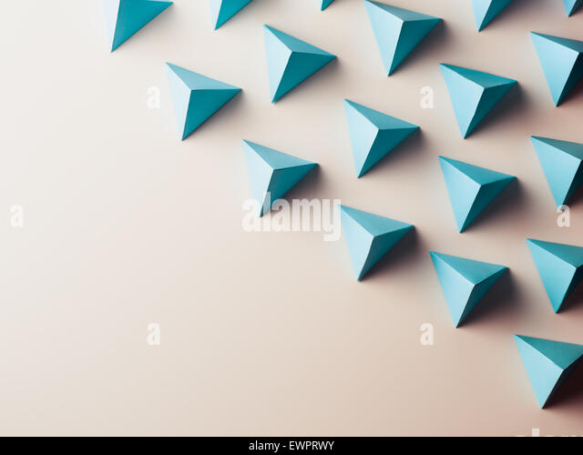 abstract background consisting of paper geometric shapes. copy space available - Stock Image