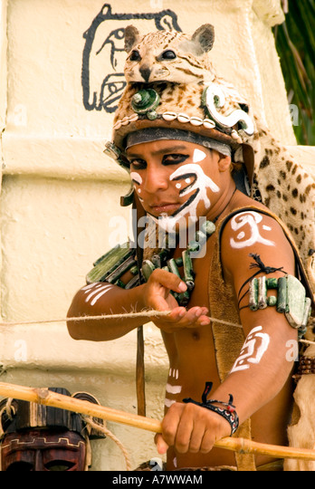 Puerto Costa Maya  actor with bow - Stock Image