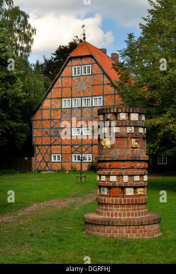 Former Gut Sunder manor house, district of Celle, Lower Saxony - Stock Image