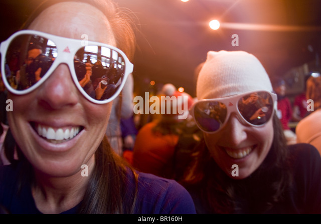 Women in bar, Jackson Hole, Wyoming - Stock-Bilder