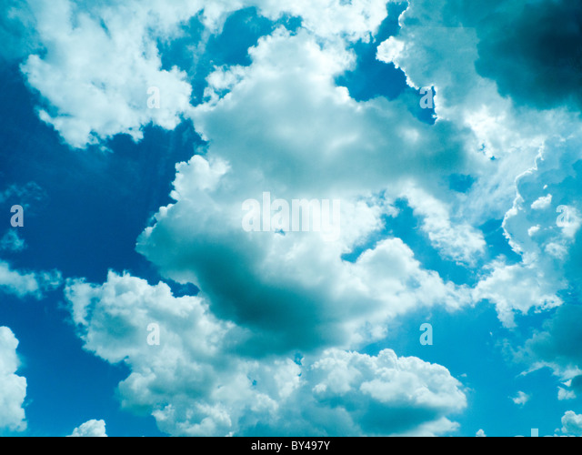 dramatic blue sky with clouds, for backgrounds. - Stock-Bilder