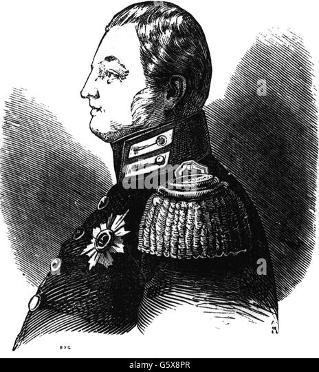 Louis II, Grand Duke of Hesse and by Rhine, 19th century - Stock Image