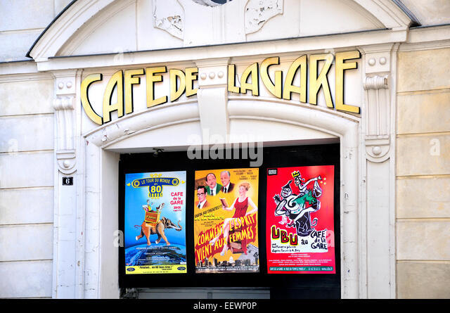 Cafe S In The  S Near The Great Paris Cinema