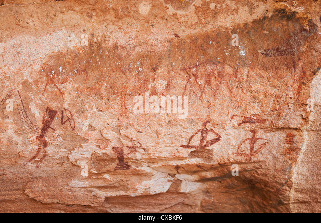 Rock paintings, Twyfelfontein, UNESCO World Heritage Site, Damaraland, Kunene Region, Namibia, Africa - Stock-Bilder