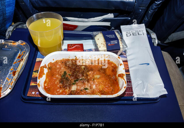 Cape Town South Africa African International Airport CPT inside onboard British Airways airliner airplane plane - Stock Image