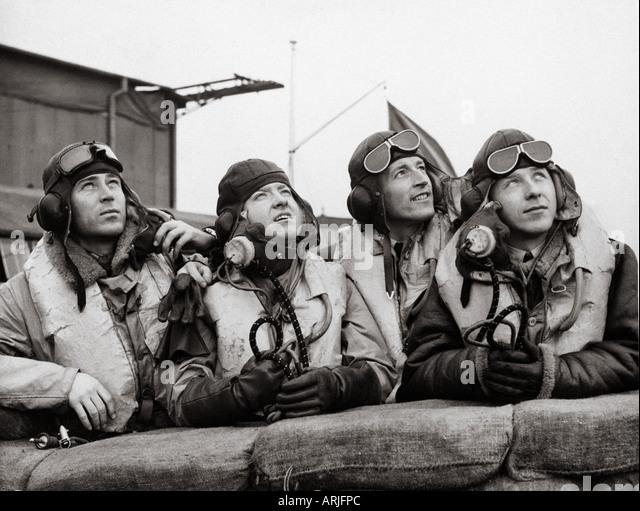 BATTLE OF BRITIAN Czech pilots - see description below - Stock Image