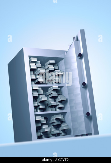 safe Tresor - Stock Image