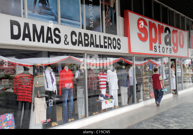Panama City Panama Marbella Sprago Store business retail shopping apparel clothing fashion department store storefront - Stock Image